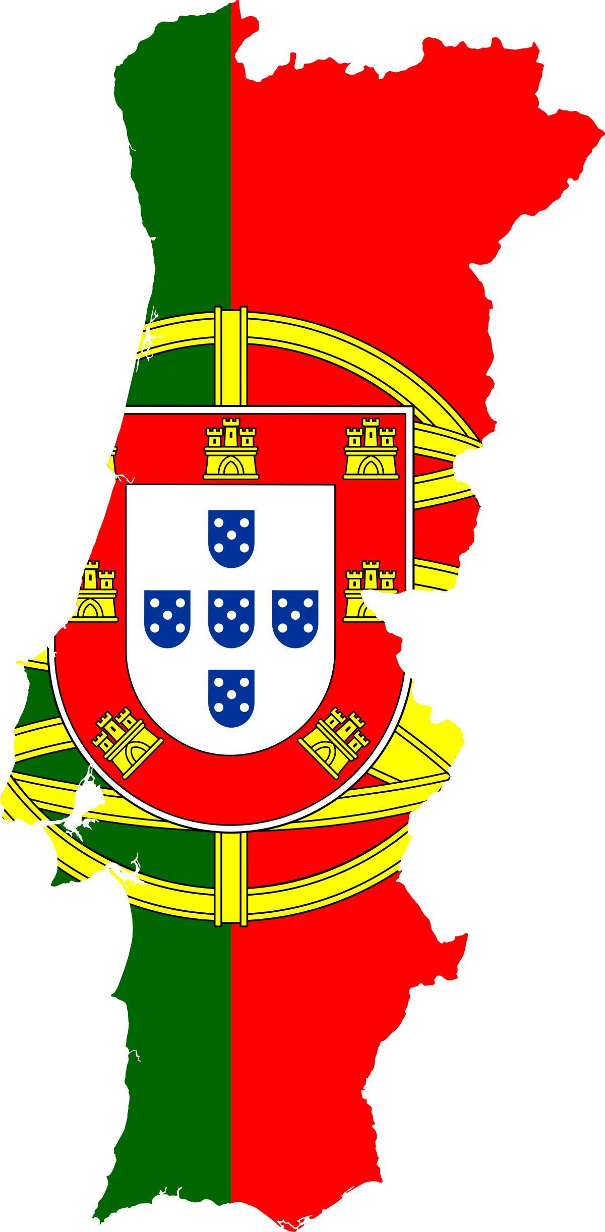 Portugal drapeau carte portugal carte drapeau le sud de - Drapeau portugal imprimer ...